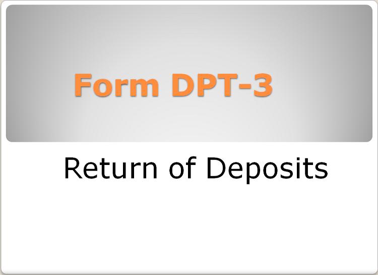 DPT-3 : RETURN OF DEPOSITS
